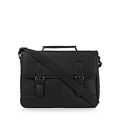 The Collection - Black buckle detail briefcase