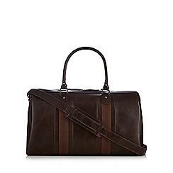 Red Herring - Brown webbed holdall bag