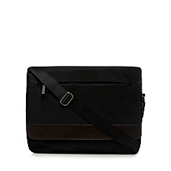 Jeff Banks - Black textured despatch bag