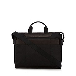 Jeff Banks - Black textured two handle laptop bag