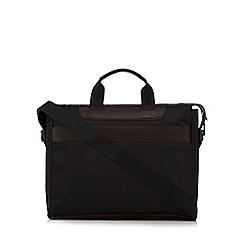 Jeff Banks - Black textured two handle laptop bag