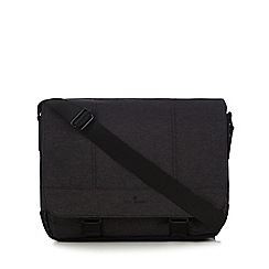 Jeff Banks - Dark grey textured despatch bag