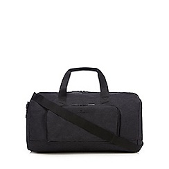 Jeff Banks - Dark grey textured holdall bag