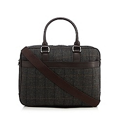 Hammond & Co. by Patrick Grant - Grey herringbone briefcase