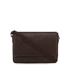 The Eighth - Dark brown 'Dalton' leather despatch bag