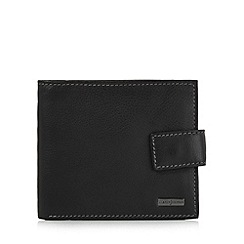 J by Jasper Conran - Designer black popper fastened plate detail wallet
