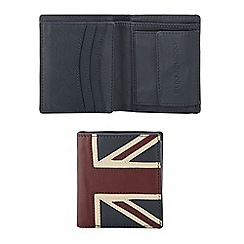 Red Herring - Navy 'Union Jack' billfold wallet