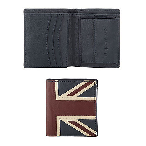 Red Herring - Navy +Union Jack+ billfold wallet