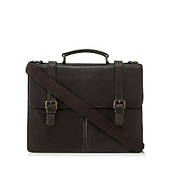 The Eighth - Brown 'Lucas' leather briefcase