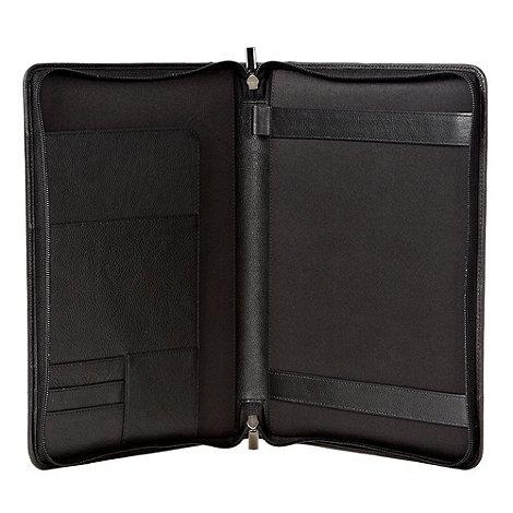 RJR.John Rocha - Designer black leather business document wallet