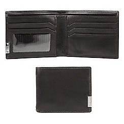 J by Jasper Conran - Designer black leather logo plate wallet