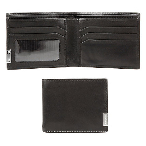 J by Jasper Conran - Black leather logo plate wallet in a gift box