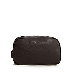 The Collection - Brown zip around wash bag