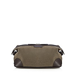 J by Jasper Conran - Brown textured wash bag