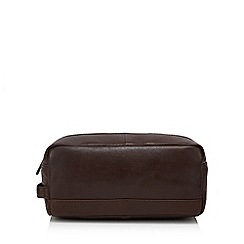 Hammond & Co. by Patrick Grant - Brown leather wash bag