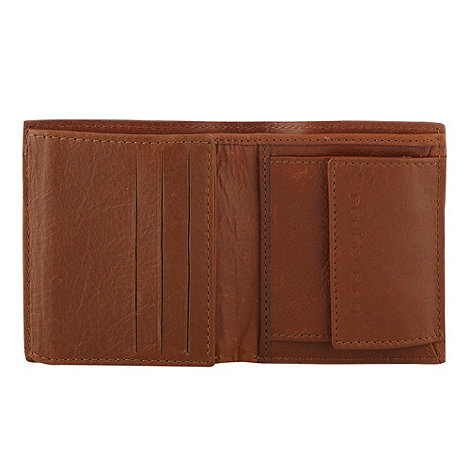 Red Herring - Tan leather trifold wallet