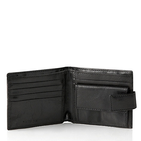 RJR.John Rocha - Designer black leather coin pocket wallet