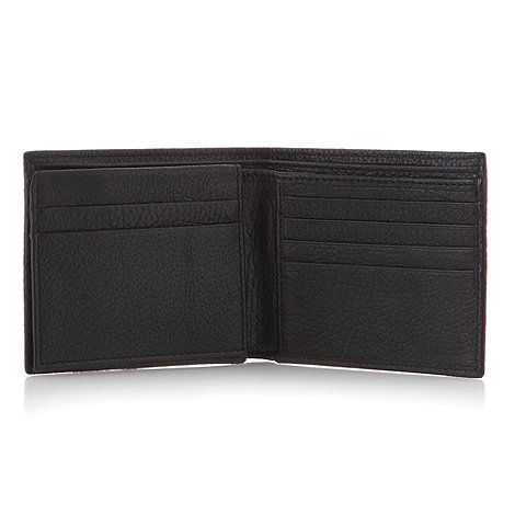 RJR.John Rocha - Designer black grained leather billfold wallet