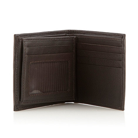 RJR.John Rocha - Designer brown stitched leather billfold wallet