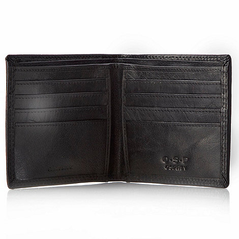 Osprey - Black leather contrast stitch wallet