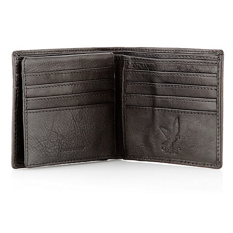 Osprey - Black 'Cavallo' vintage saddle leather billfold wallet