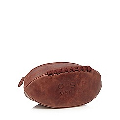 Osprey - Brown 'Rugger' old saddle leather wash bag