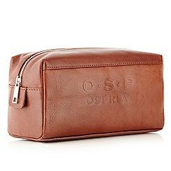 Osprey - Brown 'Miramar' old saddle wash bag
