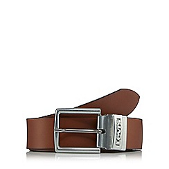 Levi's - Brown leather buckle belt