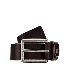 Mantaray - Dark brown leather belt