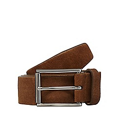 J by Jasper Conran - Big and tall tan suede belt