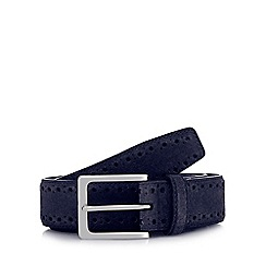 J by Jasper Conran - Navy suede belt