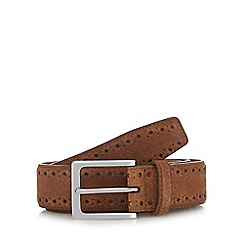 J by Jasper Conran - Tan suede belt