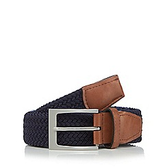 Maine New England - Big and tall navy woven belt
