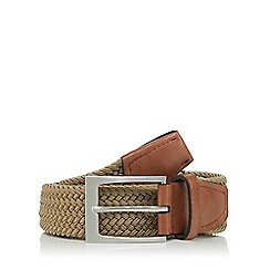 Maine New England - Big and tall taupe woven belt