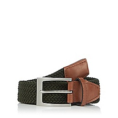 Maine New England - Big and tall khaki woven belt