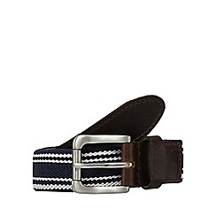 Hammond & Co. by Patrick Grant - Navy striped textured belt