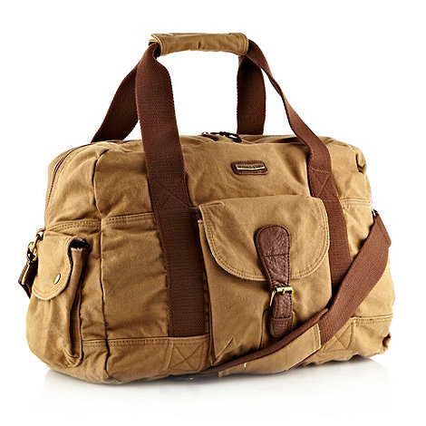 Weird Fish - Natural canvas holdall