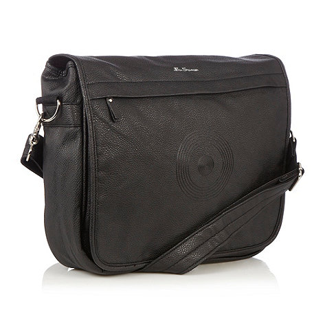 Ben Sherman - Black mens messenger bag