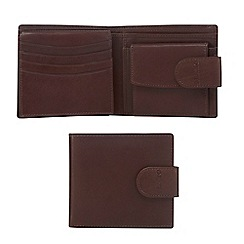 Dents - Brown rfid grained leather wallet