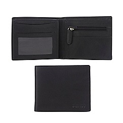 Dents - Black smooth leather flap wallet