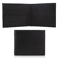 Hammond & Co. by Patrick Grant - Black pebbled leather billfold wallet