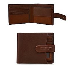 Mantaray - Brown leather wallet with pull out ID pass holder