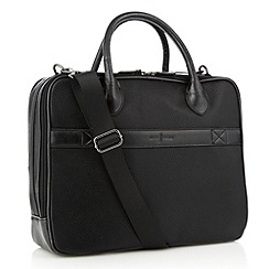 J by Jasper Conran - Black leatherette padded large laptop bag