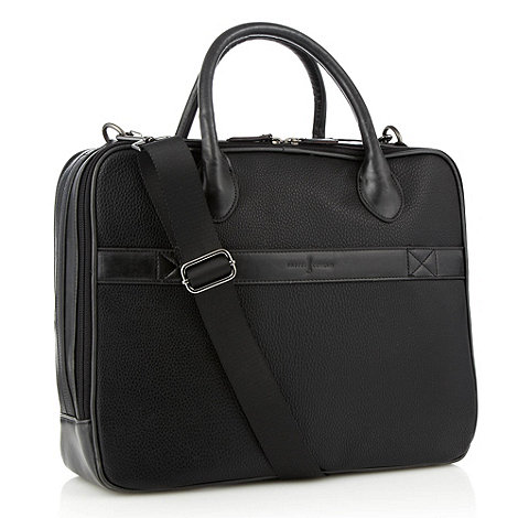 J by Jasper Conran - Black leatherette padded large laptop bag