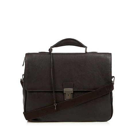 J by Jasper Conran - Designer brown leather briefcase