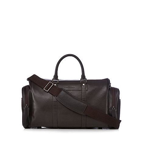 J by Jasper Conran - Designer brown grain leather holdall