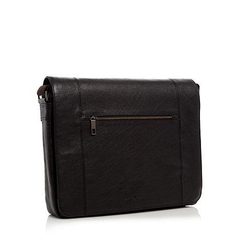 J by Jasper Conran - Designer black leather messenger bag