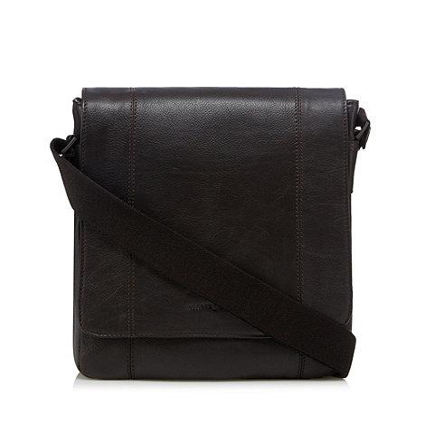 J by Jasper Conran - Designer brown grain leather shoulder bag