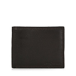J by Jasper Conran - Designer brown grained leather billfold wallet