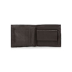J by Jasper Conran - Brown leather popper tabbed wallet in a gift box